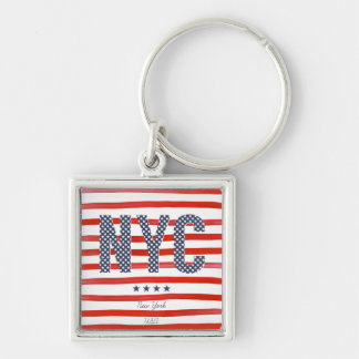 NYC | Red, White & Blue Design Key Ring