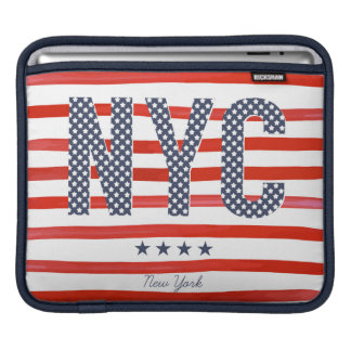 NYC | Red, White & Blue Design Sleeves For iPads