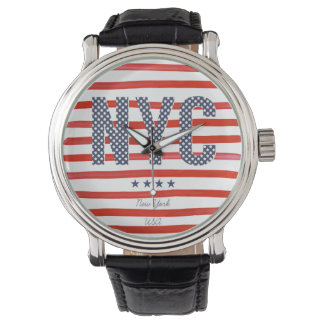NYC | Red, White & Blue Design Watch