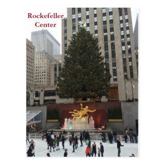 NYC Rockefeller Center Skaters Christmas Postcard