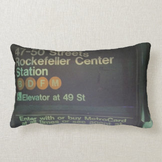 NYC Rockefeller Center Station Throw Pillows