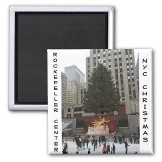 NYC Rockefeller Centre Ice Skating Rink Magnet