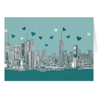 NYC romantic turquoise Card
