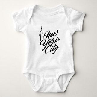 NYC Script Text Baby Bodysuit