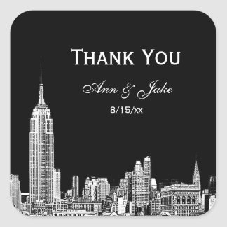 NYC Skyline 01 Etched DIY BG  Favor Tag Thank You