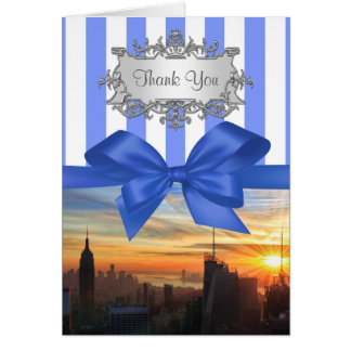 NYC Skyline at Sunset Invition Suite Thank You Cards
