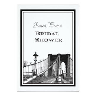 NYC Skyline Brooklyn Bridge #2 DIY Bridal Showr Card