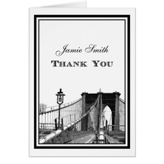 NYC Skyline Brooklyn Bridge #2 Thank You Card