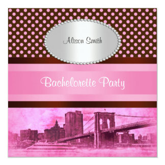 NYC Skyline Brooklyn Bridge Boat 3 Bachelorette Card
