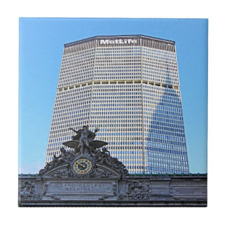 NYC Skyline: Chrysler Building Casts Long Shadow Small Square Tile