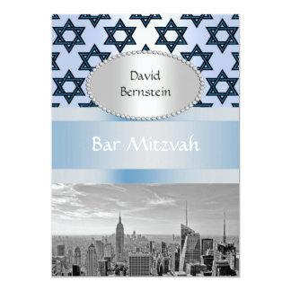 NYC Skyline Empire State Building Bar Mitzvah #2P 13 Cm X 18 Cm Invitation Card