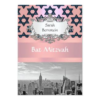 NYC Skyline Empire State Building Bat Mitzvah #2 13 Cm X 18 Cm Invitation Card