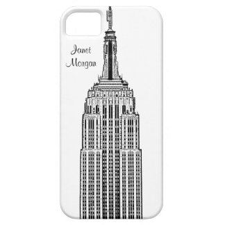 NYC Skyline - Empire State Building Etched look iPhone 5 Covers