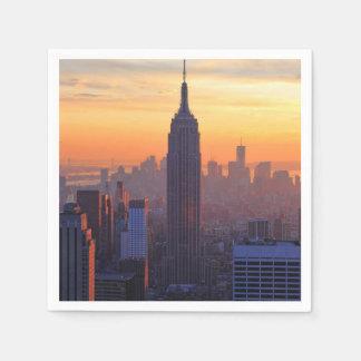 NYC Skyline: Empire State Building Orange Sunset Disposable Serviette