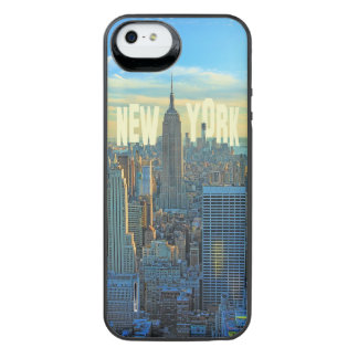 NYC Skyline Empire State Building, World Trade 2C iPhone SE/5/5s Battery Case