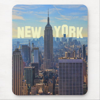 NYC Skyline Empire State Building, World Trade 2C Mouse Pad