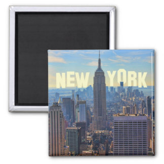 NYC Skyline Empire State Building, World Trade 2C Square Magnet