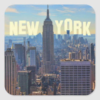 NYC Skyline Empire State Building, World Trade 2C Square Sticker