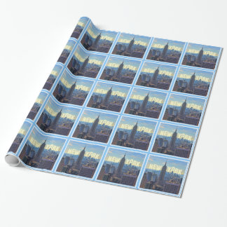 NYC Skyline Empire State Building, World Trade 2C Wrapping Paper