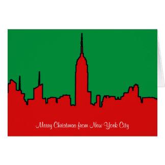 NYC Skyline: ESB Christmas Silhouette Card