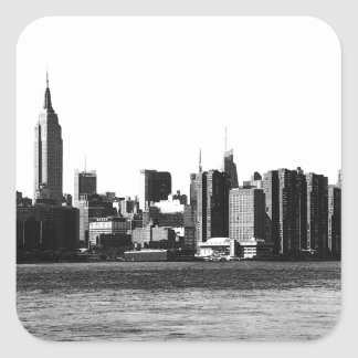 NYC Skyline ESB, East River View 001 Square Sticker