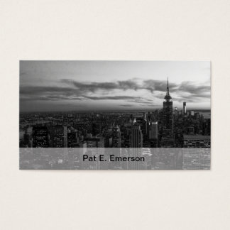 NYC Skyline, ESB WTC at Sunset BW Business Card