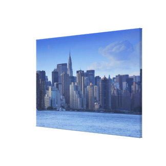 NYC Skyline From East River: Chrysler, Met Life Canvas Print