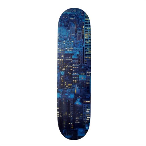 NYC Skyline, high angle view at dusk Skate Board Decks
