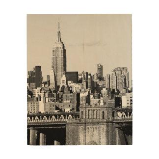 NYC Skyline II Wood Print