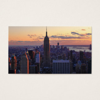 NYC Skyline just before sunset Business Card