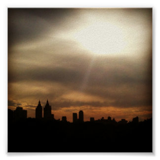 "NYC Skyline, ""Let the Sun Shine In"" Poster"