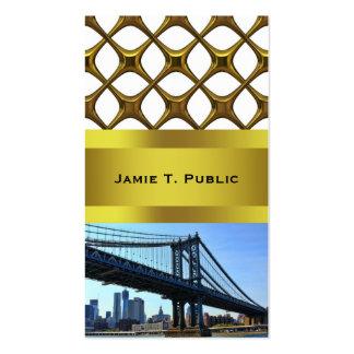 NYC Skyline: Manhattan Bridge #3 Business Card Templates