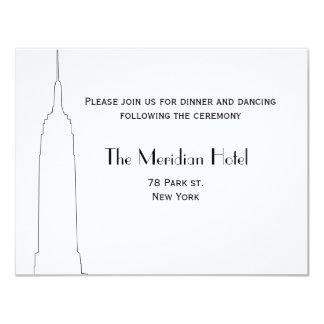 NYC Skyline Recption Card