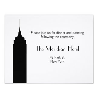 NYC Skyline Recption Card - Empire State Building