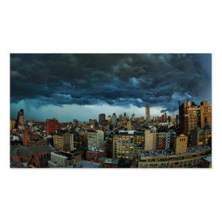 NYC Skyline Scary massive derecho storm cloud Business Cards