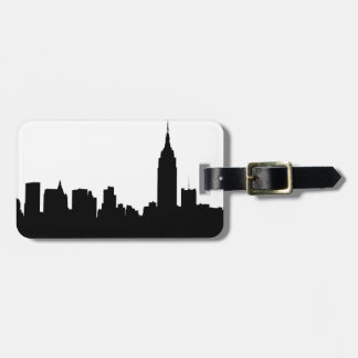 NYC Skyline Silhouette, Empire State Bldg #1 Luggage Tag