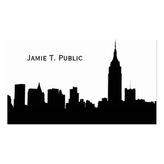 NYC Skyline Silhouette, Empire State Bldg #1 Pack Of Standard Business Cards