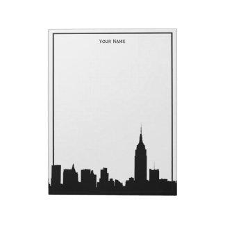 NYC Skyline Silhouette Framed Notepads