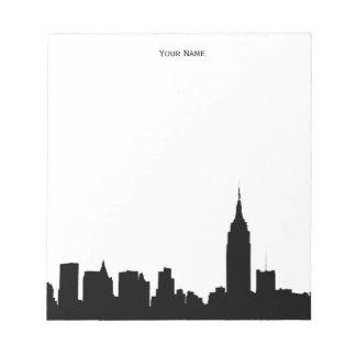 NYC Skyline Silhouette Notepad
