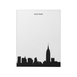 NYC Skyline Silhouette Notepad