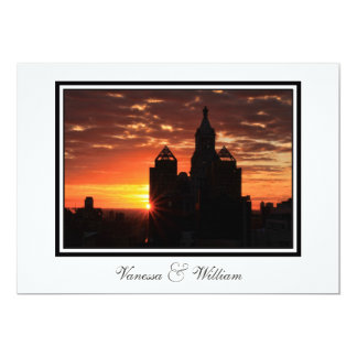 NYC Skyline Sunrise Wedding Invite