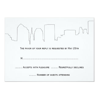 NYC Skyline Wedding RSVP Cards