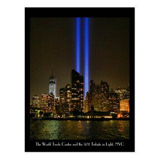 NYC Skyline: WTC  9/11 Tribute In Light 2013 #1 Postcard