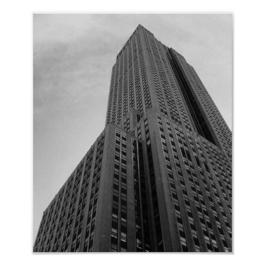 NYC Skyscraper Black And White Photograph Poster