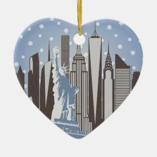 NYC Snowflakes Ceramic Ornament