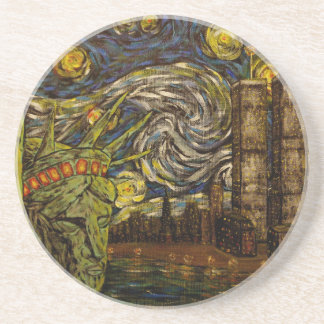 NYC Starry Night.: Twin Towers (The True Towers) Coaster