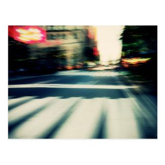 NYC Street Blur Postcard