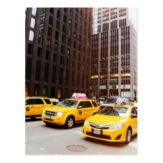 NYC taxi cabs in New York Postcard