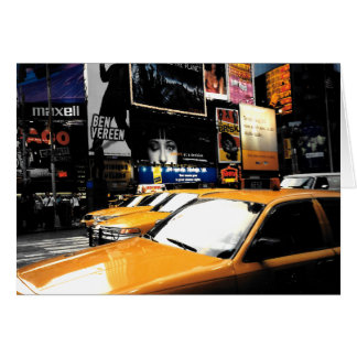 NYC Taxi Cabs Time Square Blank Greeting Card