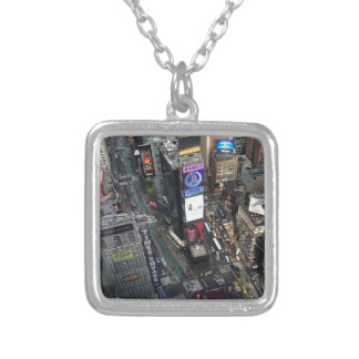 NYC Times Square Silver Plated Necklace